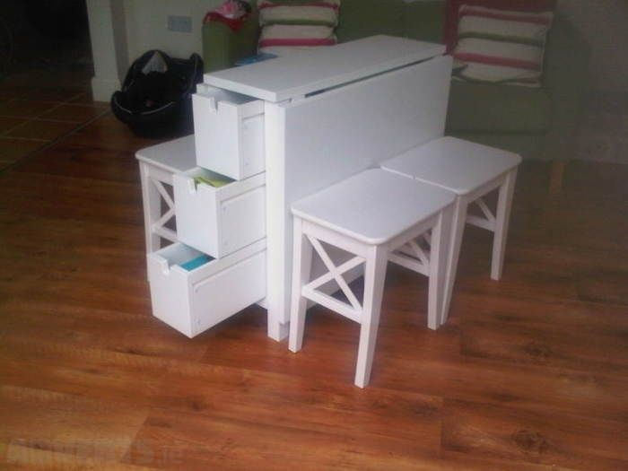 Ikea Norden Table Ingolf Stools X 4 For Sale In Dun Laoghaire, Dublin From