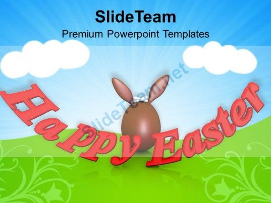 Happy Easter Religious Festival Powerpoint Templates Ppt