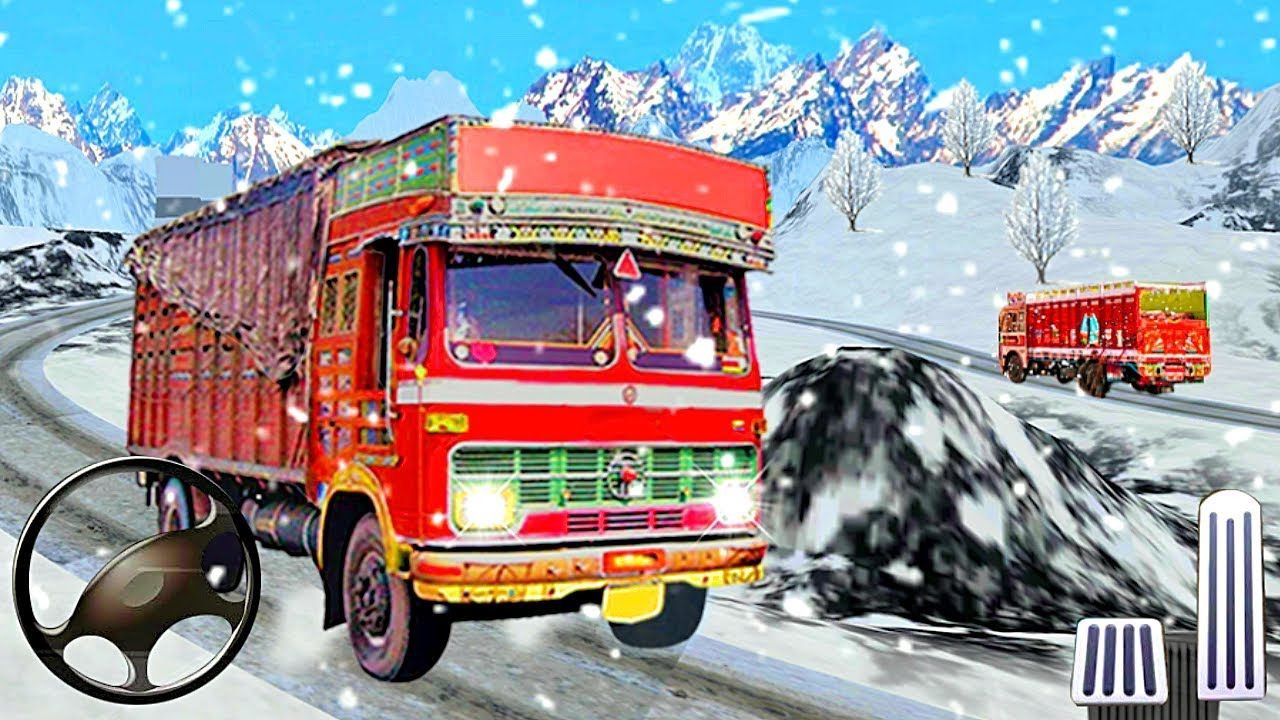 Mountain Heavy Cargo Truck Driver Indian Offroad Truck Driving