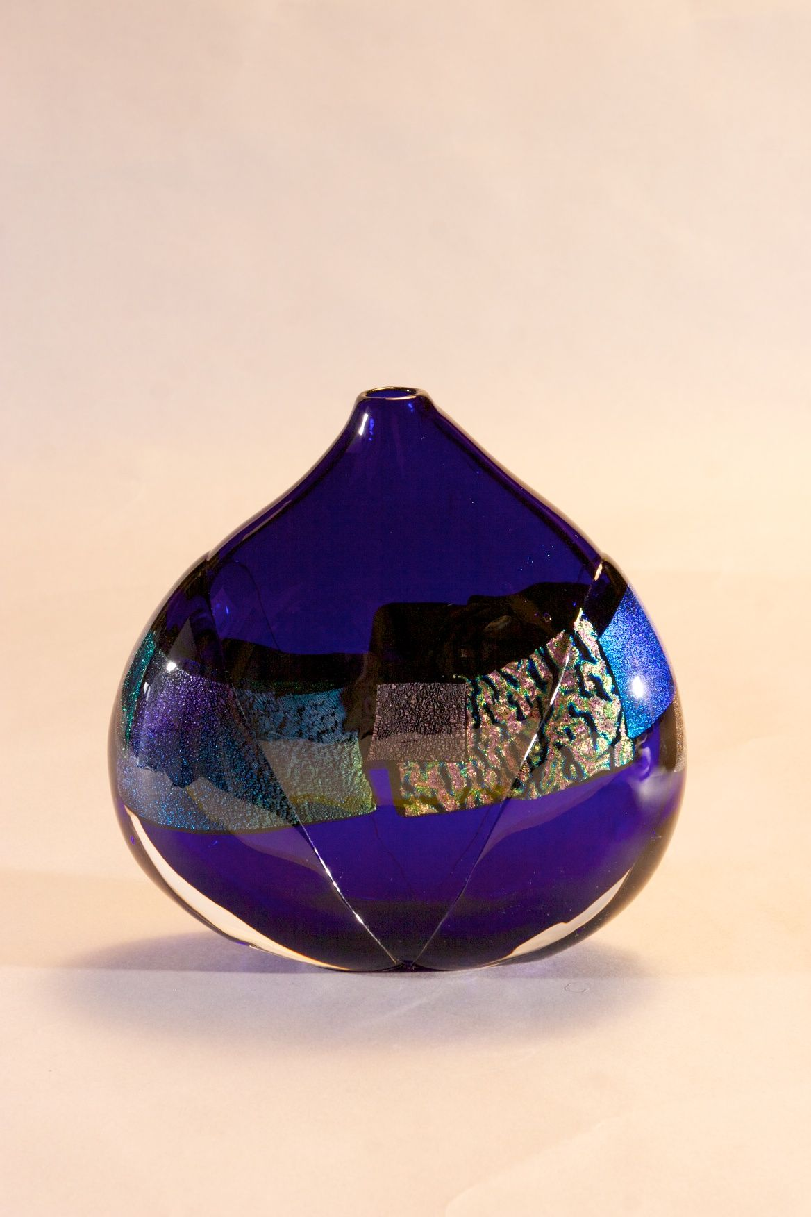 Cobalt Dichroic Vessel | James Wilbat Glass Studio