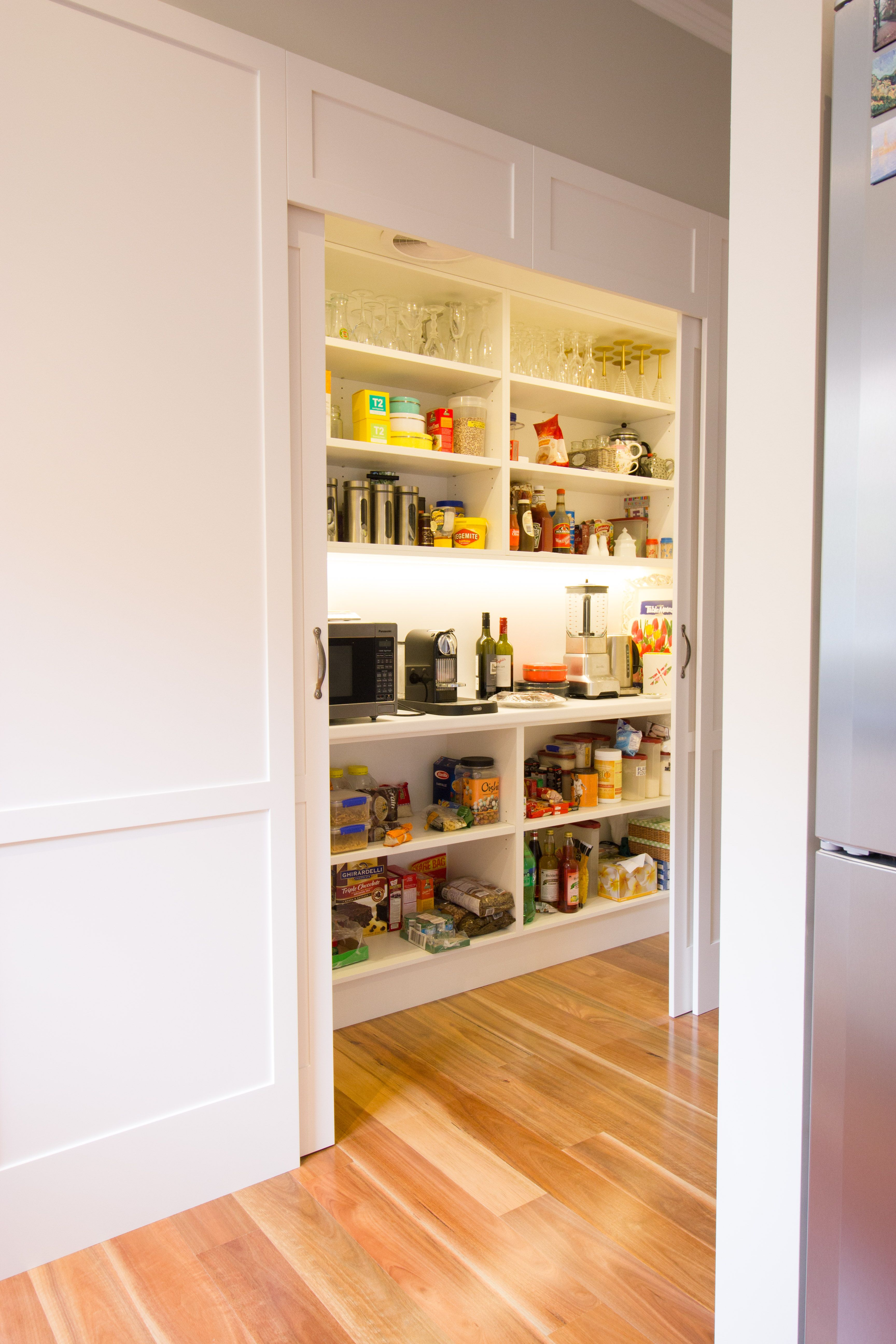 Walk In Pantry Contemporary Kitchen Sliding Doors Www