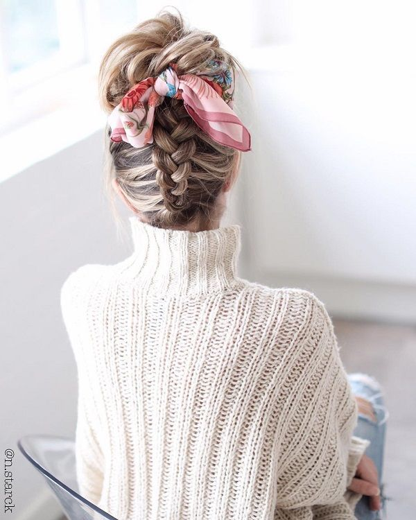 Gorgeous Hairstyles by Nina Starck   Scarf hairstyles, Hair inspiration, Long hair styles