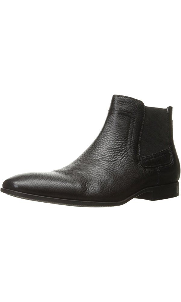 Calvin Klein Men's Clarke Tumbled Boot, Black, 13 M US Best Price