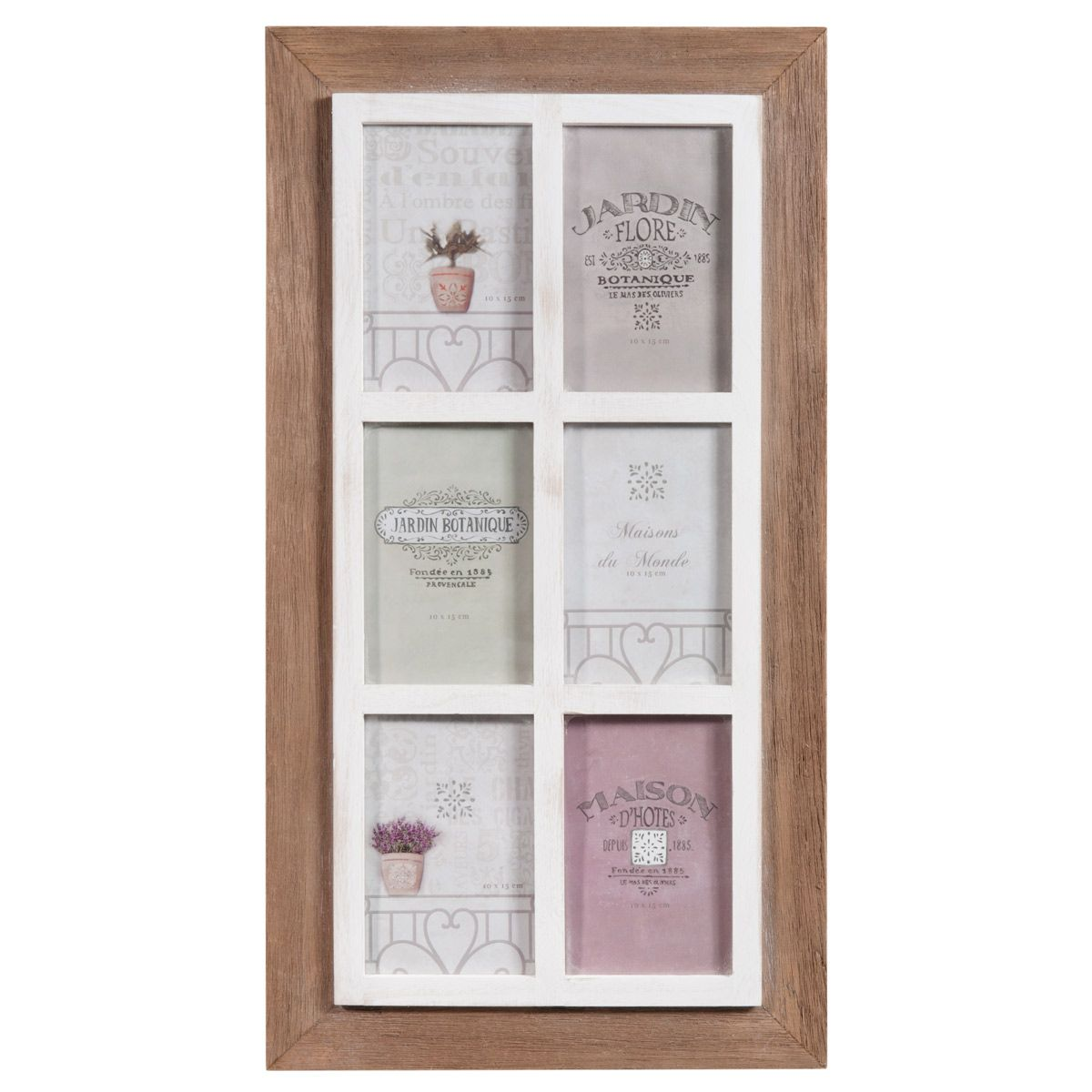 cadre photo 6 vues en bois 30 x 55 cm window deco pinterest fen tre photos et corniches. Black Bedroom Furniture Sets. Home Design Ideas