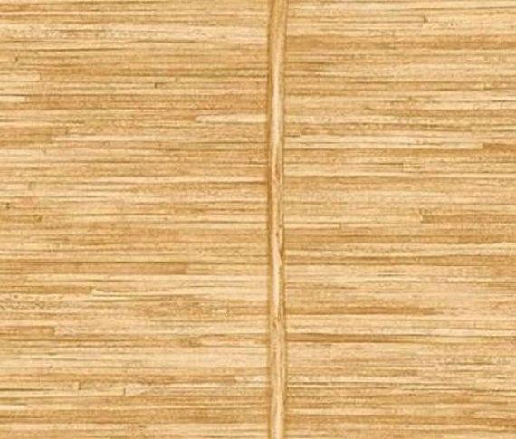 Wallpaper Faux Golden Brown Bamboo Slat Natural Asian