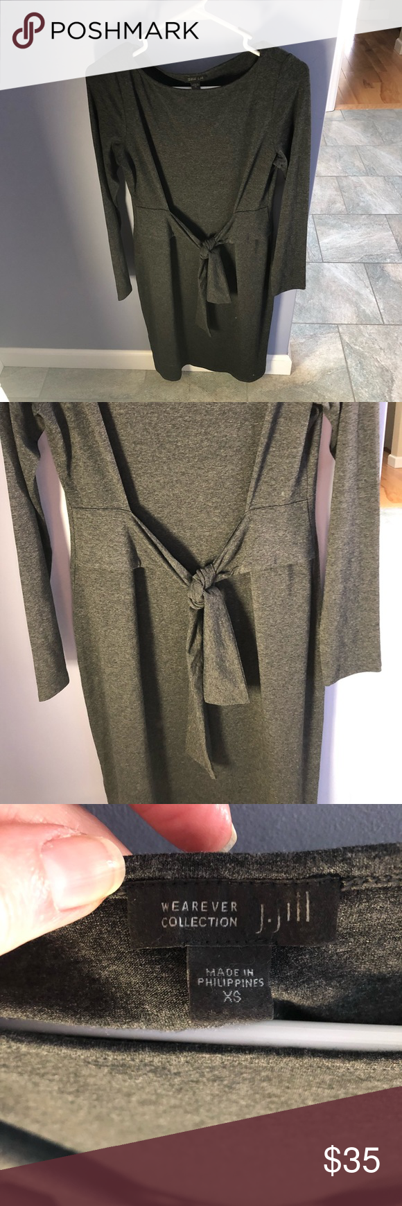 c29c0366330 J Jill Wearever Collection tie front jersey dress BNWT- J Jill Wearever  Collection tie front