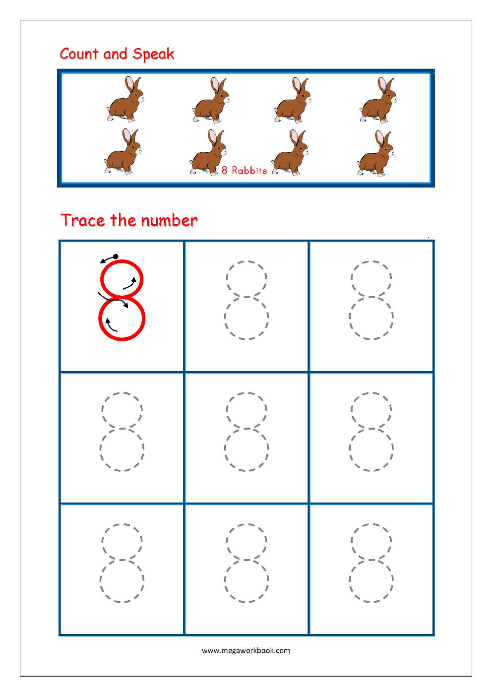 Free Printable Kindergarten Number Writing Worksheets