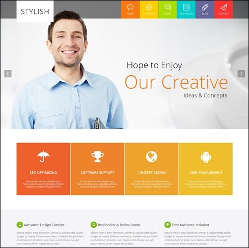 70 Best Business HTML Website Templates Web Development - resume website template