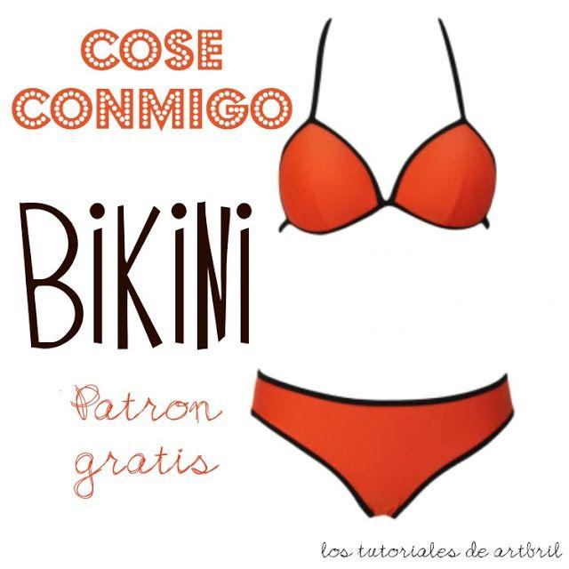 los tutoriales de artbril: Cosemos juntas un bikini | 1-Patrones de ...