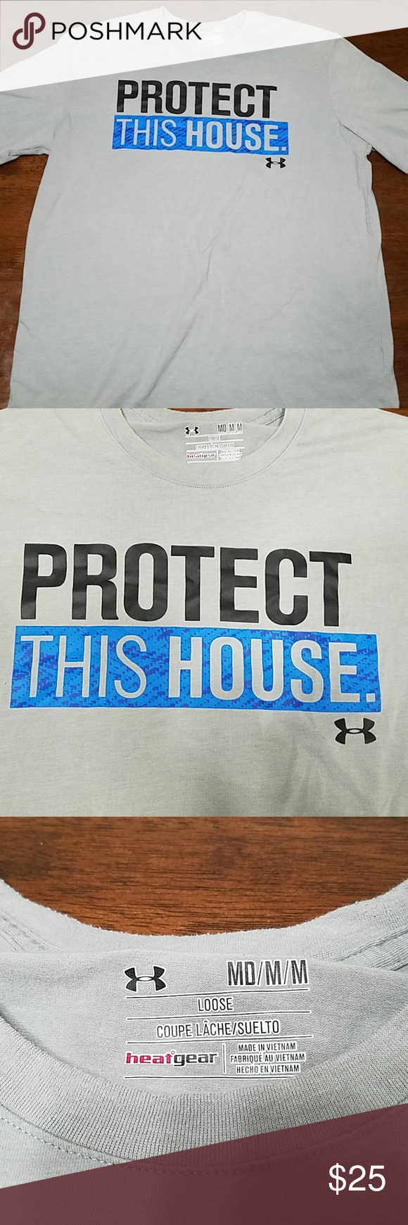 6d10f2db Under Armour protect the house t-shirt Under Armour protect the house t- shirt men's size medium. Great any Under Armour fan in your house!!