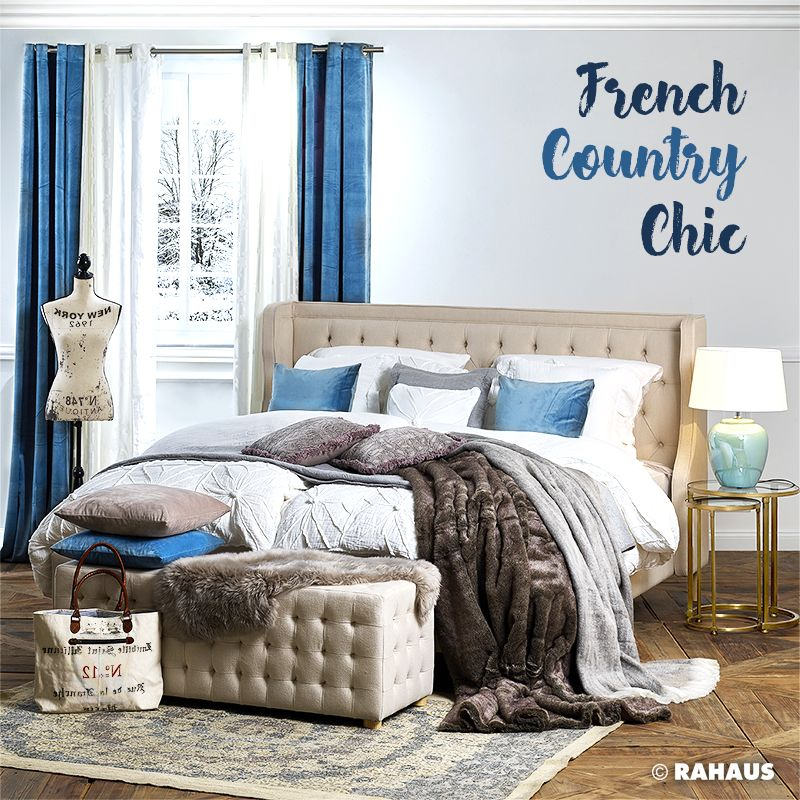 country chic bed bett teppich carpet bank bench kapitoniert beistelltisch. Black Bedroom Furniture Sets. Home Design Ideas