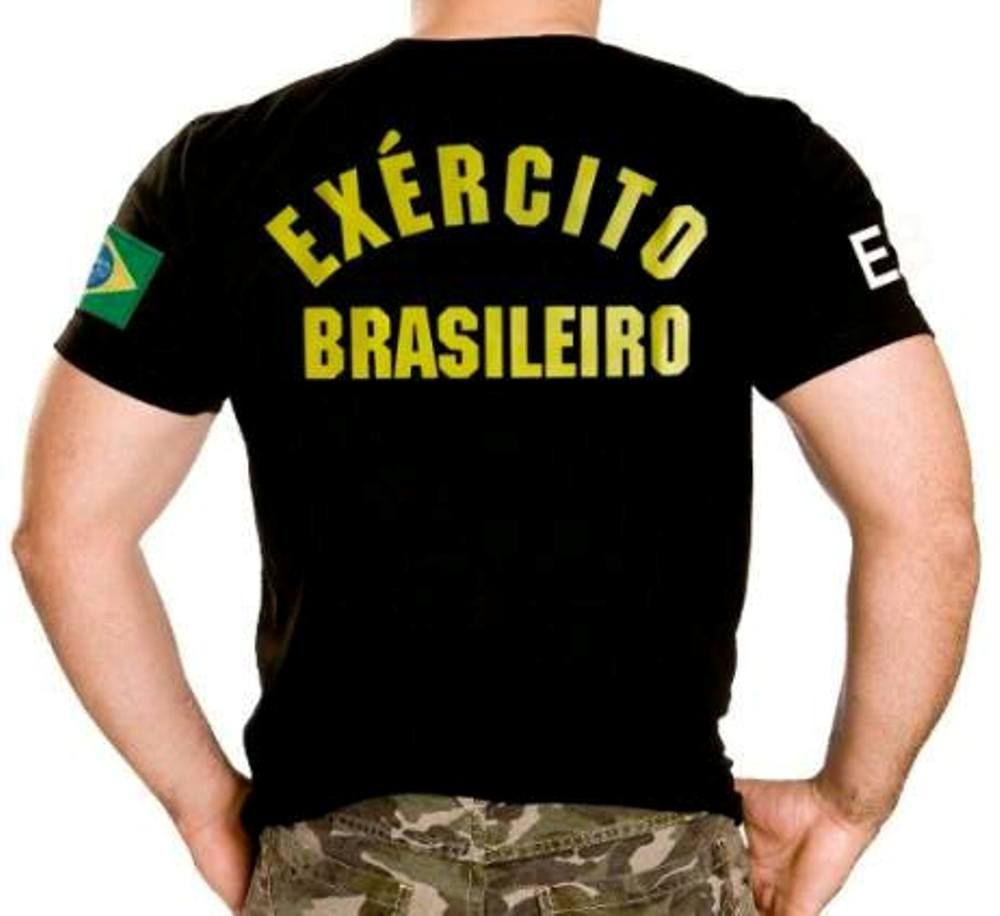 Camiseta Exército Brasileiro- R  36 a7d860e7ec121