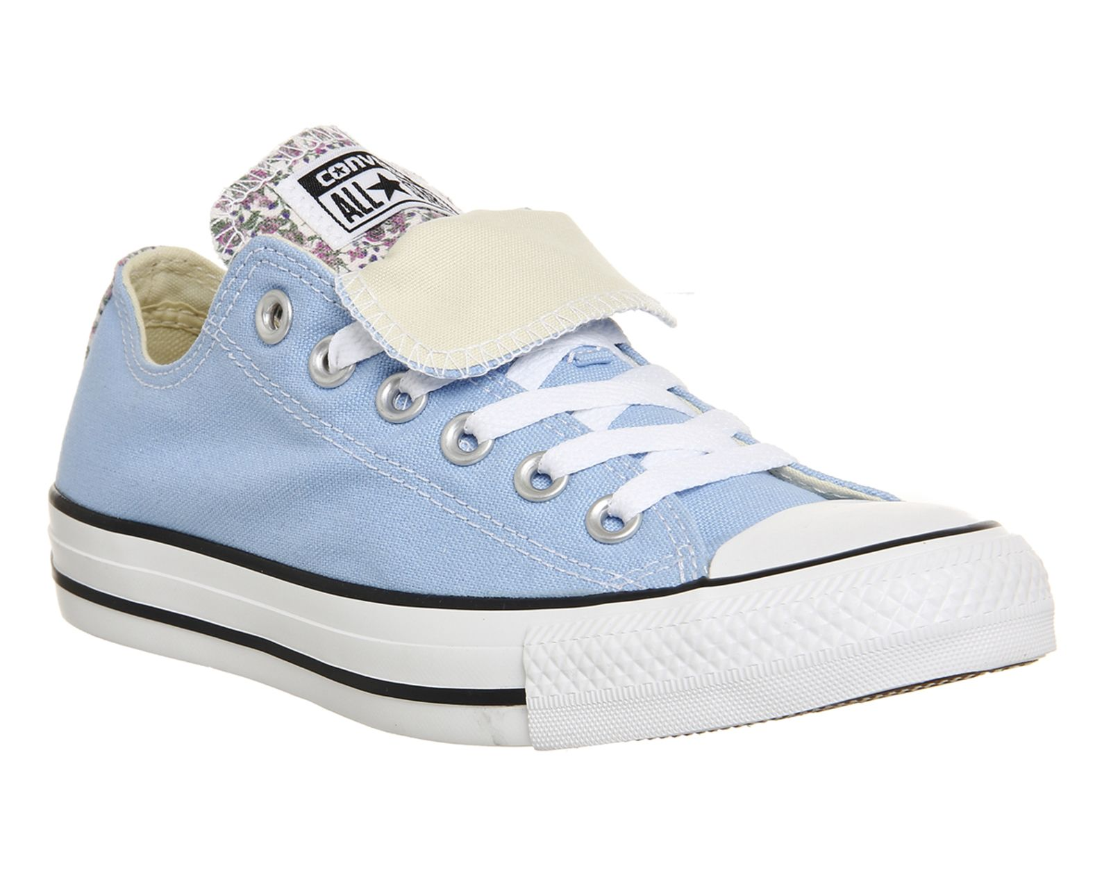Buy Blue Sky Mini Rose Converse Allstar Low Double Tongue from OFFICE.co.uk. 89c7af007
