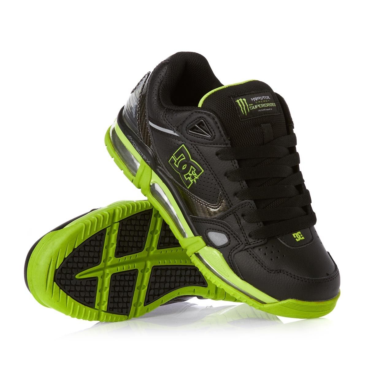 0128121dee579 DC Versaflex Monster Energy Supercross Black Soft Lime Mens sneakers Free  UK Delivery over £60