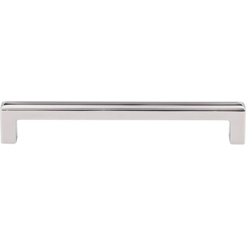 Top Knobs TK674 Podium 6-5/16 Inch Center to Center Handle Cabinet Pull Polished Nickel Cabinet Hardware Pulls Handle