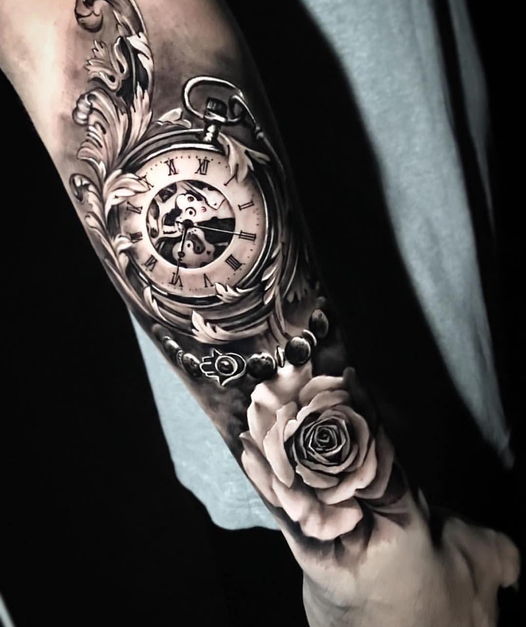 Männer arm uhr tattoos 75 Schöne