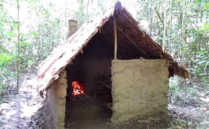 How To Build A Free Shelter With Fireplace Homemade Kiln Clay