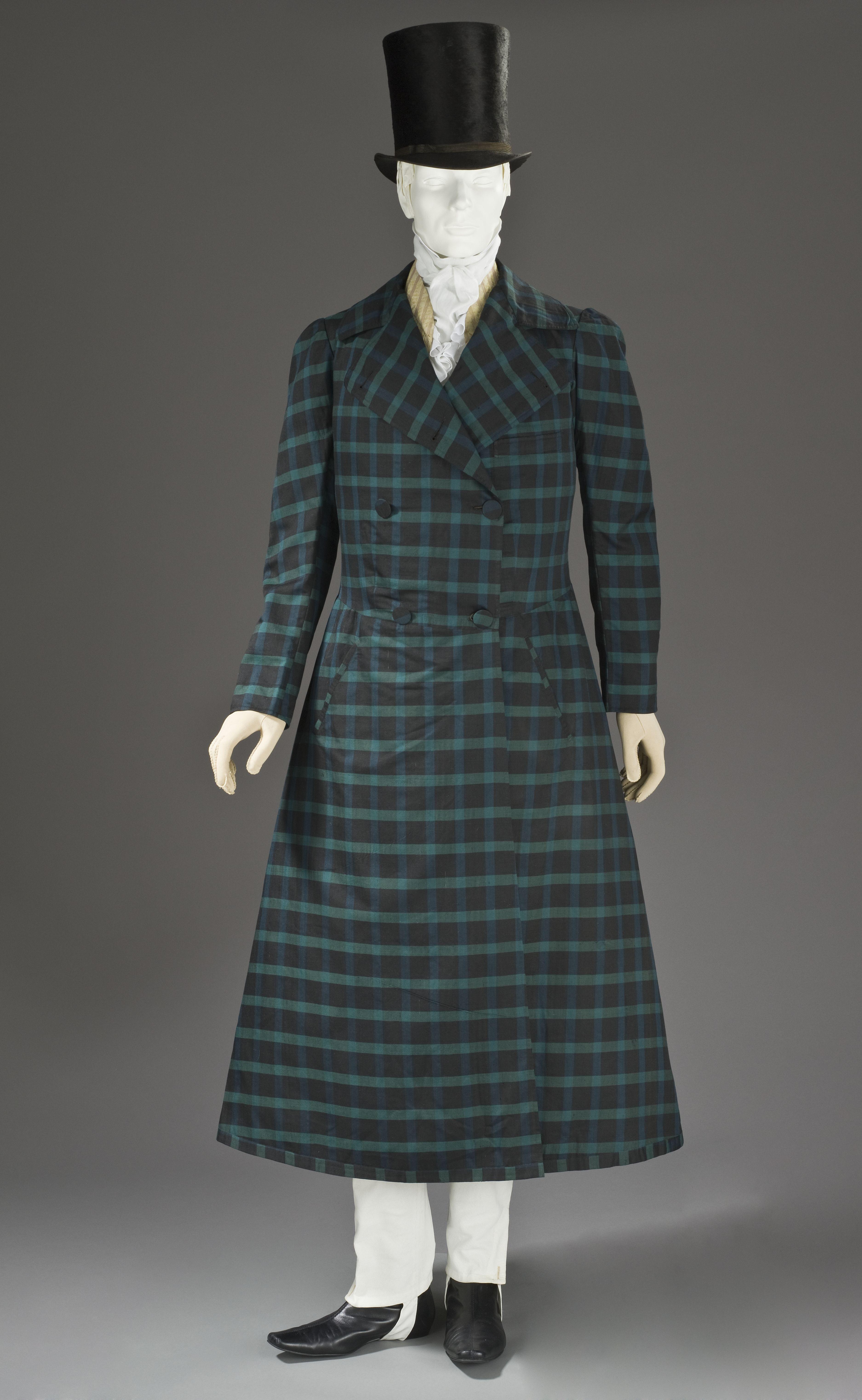 men's silk and wool twill frock coat c1820