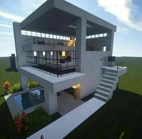 Pin By Jessie Capito On House Pinterest Minecraft Ideas - Minecraft moderne hauser plane
