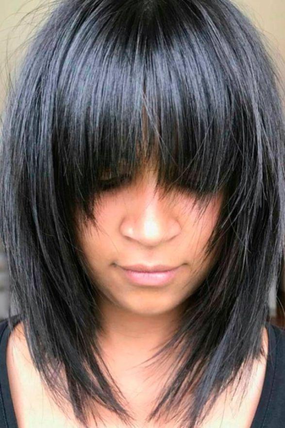 Awesome Full Fringe Hairstyle Ideas For Medium Hair 31 Haarschnitt Frisuren Mit Pony Haare