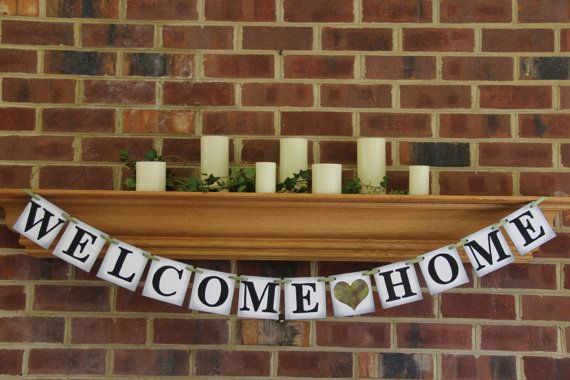 Welcome Home Banner Party Decoration Military By BannerBash, $22.00