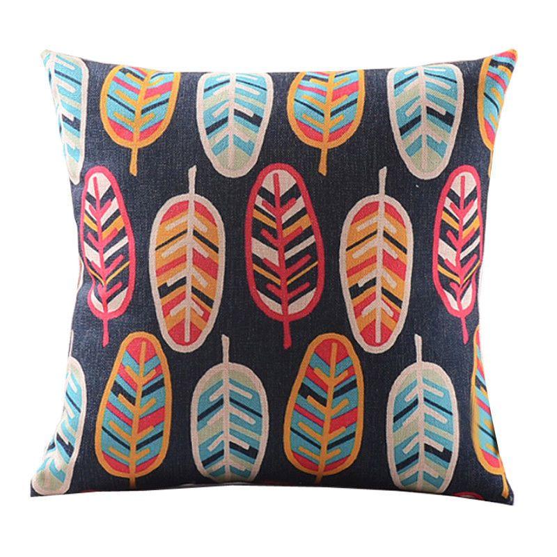 "8 Patterns Room Decor Decorative Cushion Cover Retro Waist Back Pillow Case 18"" | eBay"
