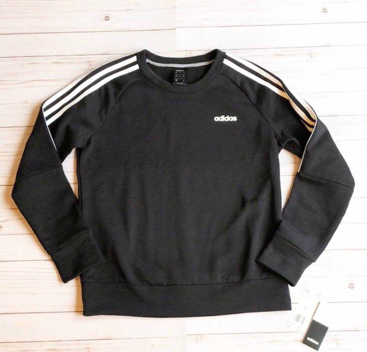 Adidas Crew Neck Sweatshirt Black Adidas Crew Neck Black Sweatshirts Crew Neck Sweatshirt [ 1151 x 1200 Pixel ]