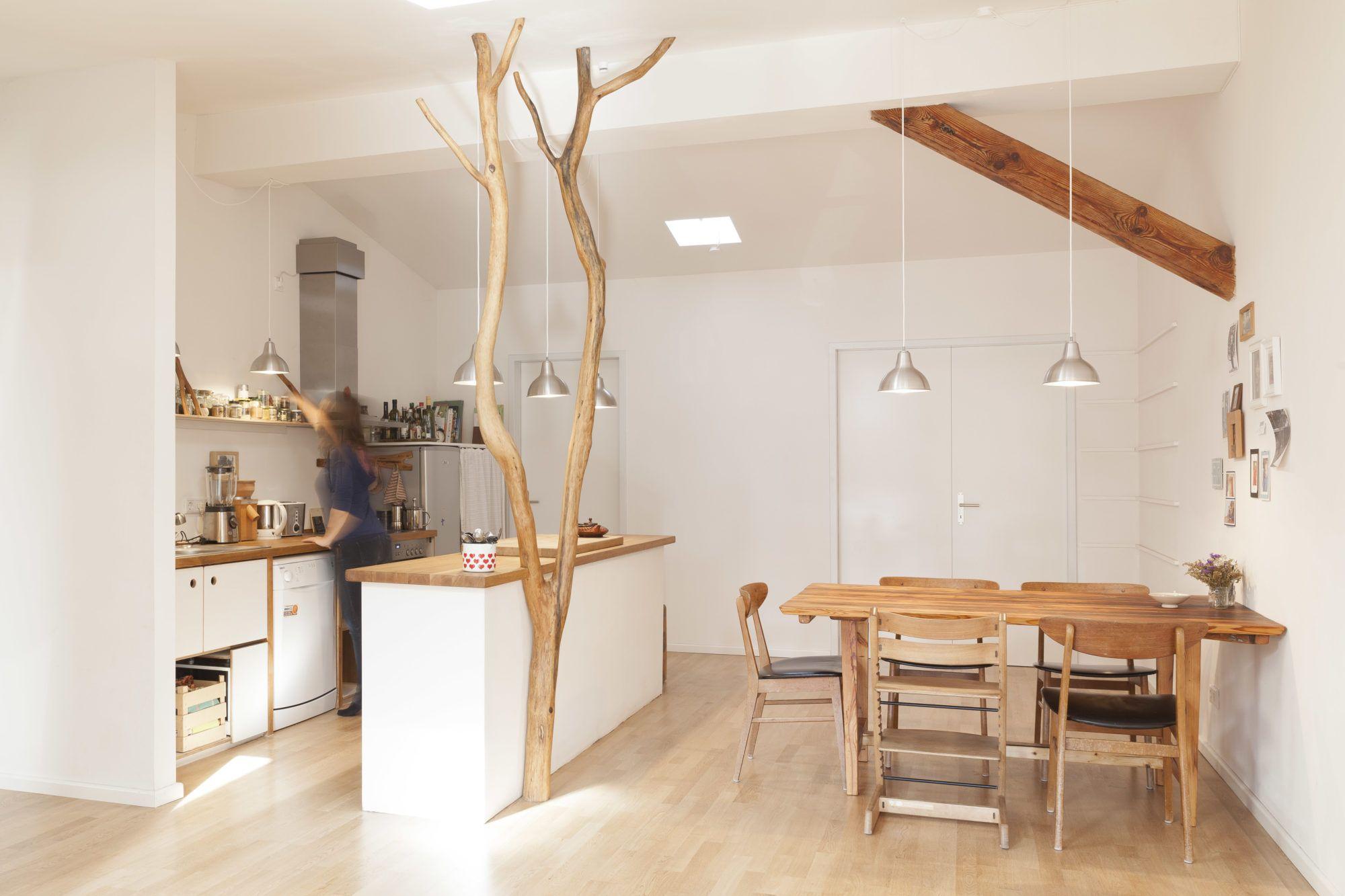 privaträume, berlin ein innenbaum als raumtrenner | ideen rund