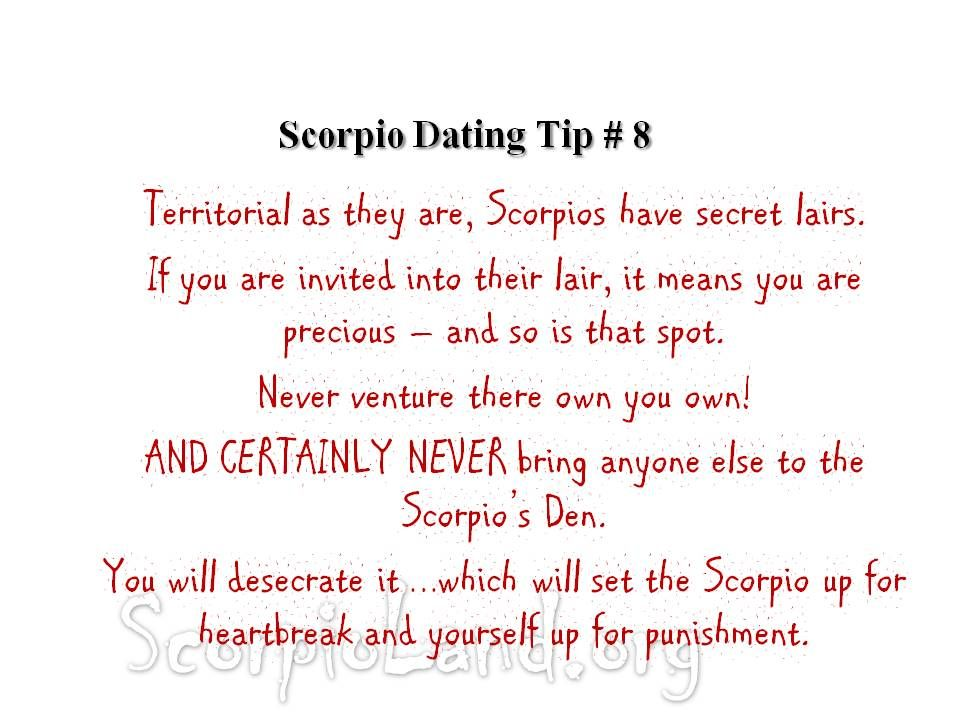 7 Don ts of Dating a Scorpio Man