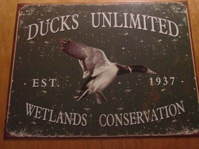 Ducks Unlimited Wetlands Conservation Mallard Lake Lodge Cabin Home Decor Sign Ebay