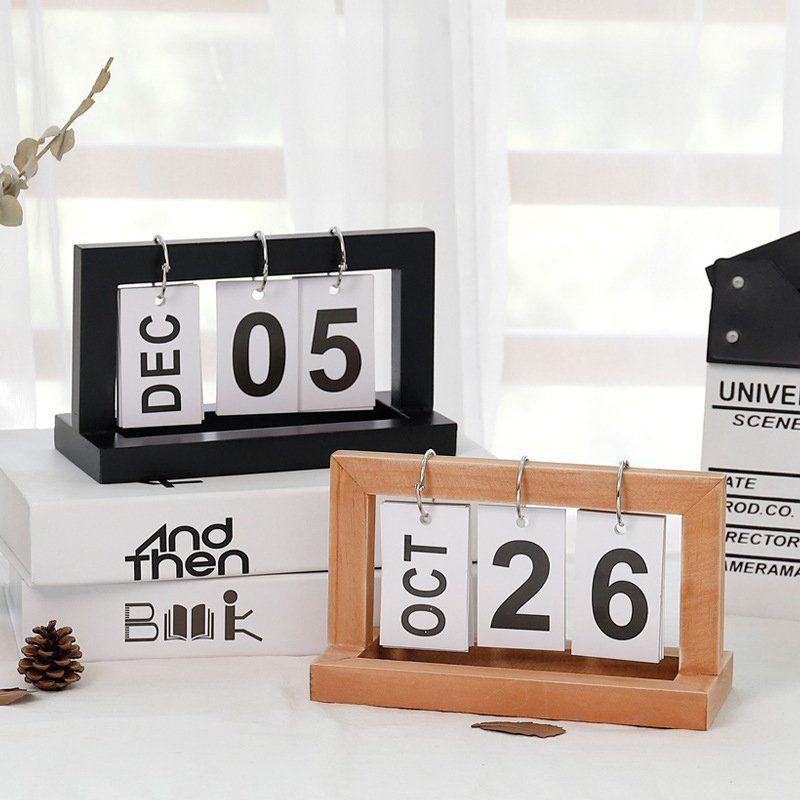 Desktop Wooden Flip Calendar Desk Calendars Wooden Cafe Wooden