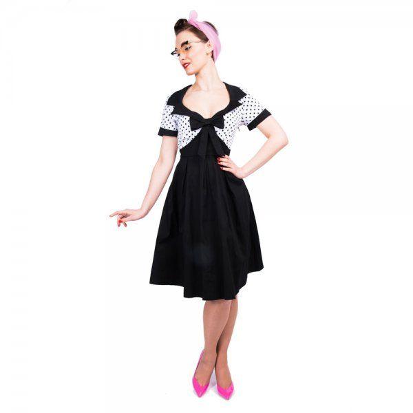 Delilah 1950s Rockabilly Inspired Box Pleat Cotton Swing
