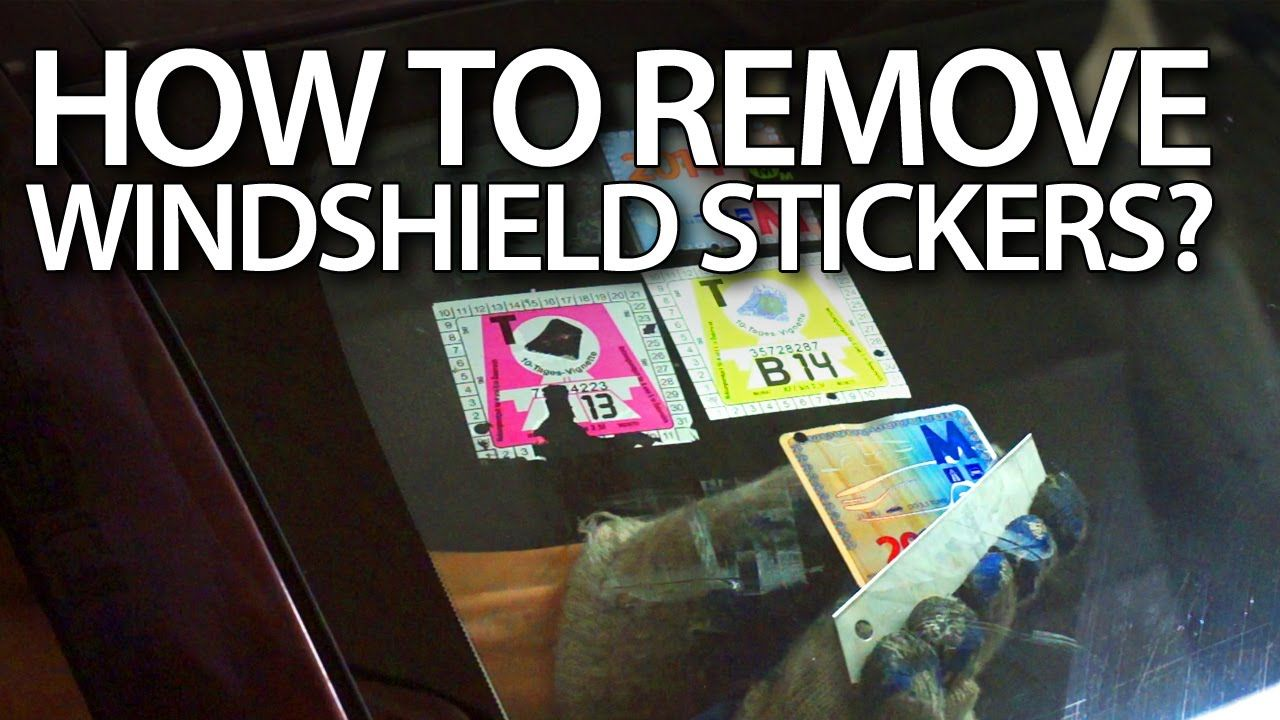 How To Remove Stickers From Windshield In Your Car Road Tax Sticker Removal Car Window Stickers Windshield [ 720 x 1280 Pixel ]