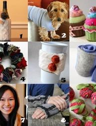 9 crafts from old sweaters