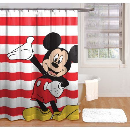 Home In 2020 Mickey Mouse Shower Curtain Fabric Shower Curtains