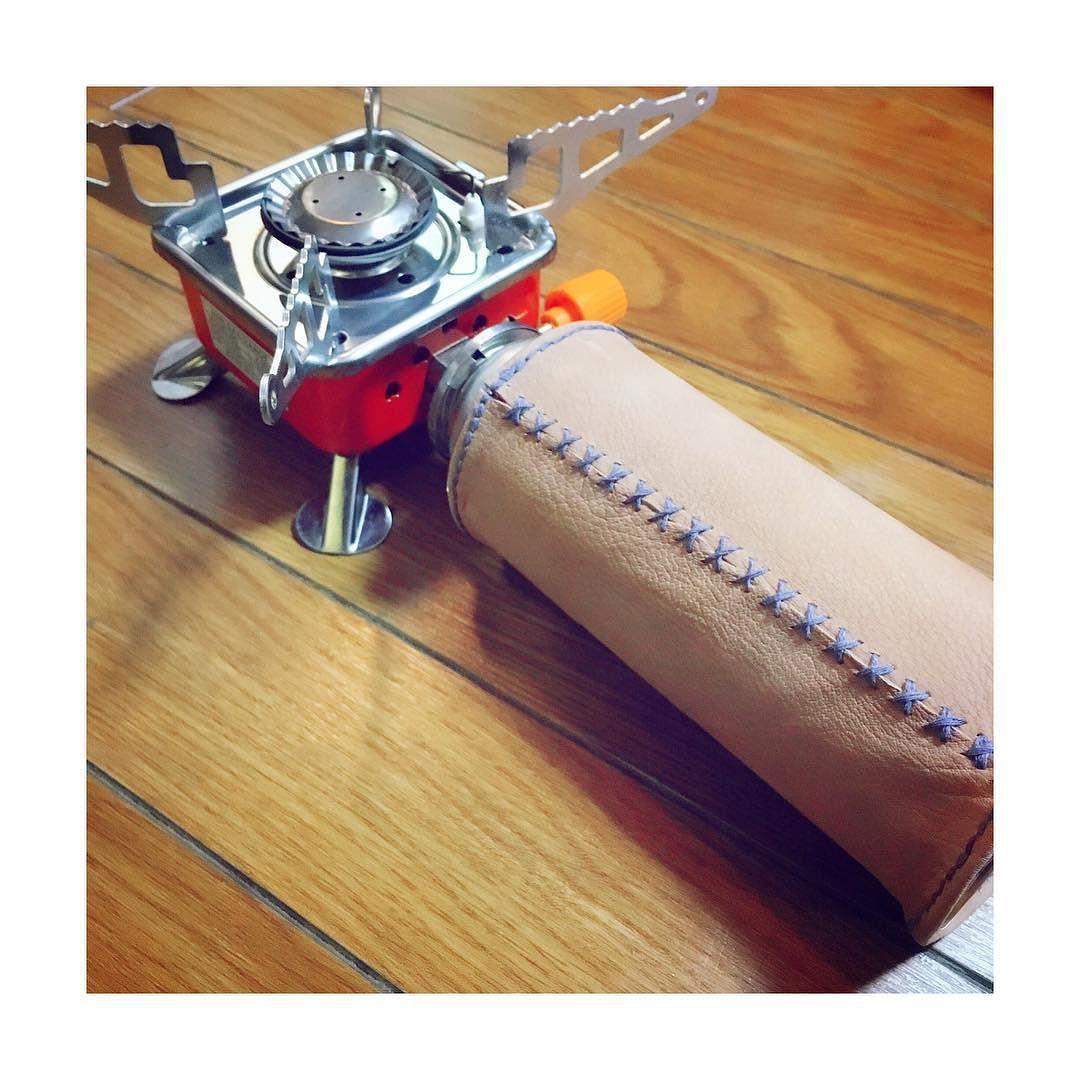 . CB缶カバー作ってみた  使うの楽しみ . #DIY #CB缶 #ハンドメイド #革 by x_kyon_x