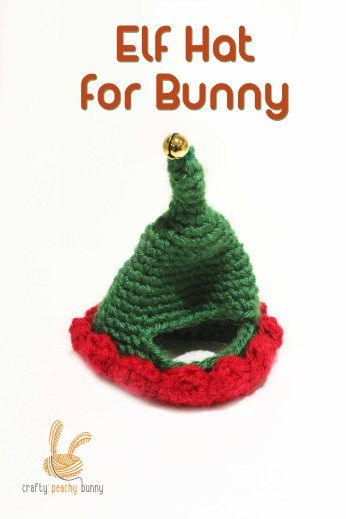 Elf Hat For Bunny Rabbit Free Pattern Crochet Gifts Pinterest