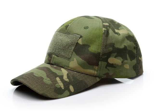 Woodland Digital Camo Tactical Operator Contractor Military Flag Patch Cap Hat