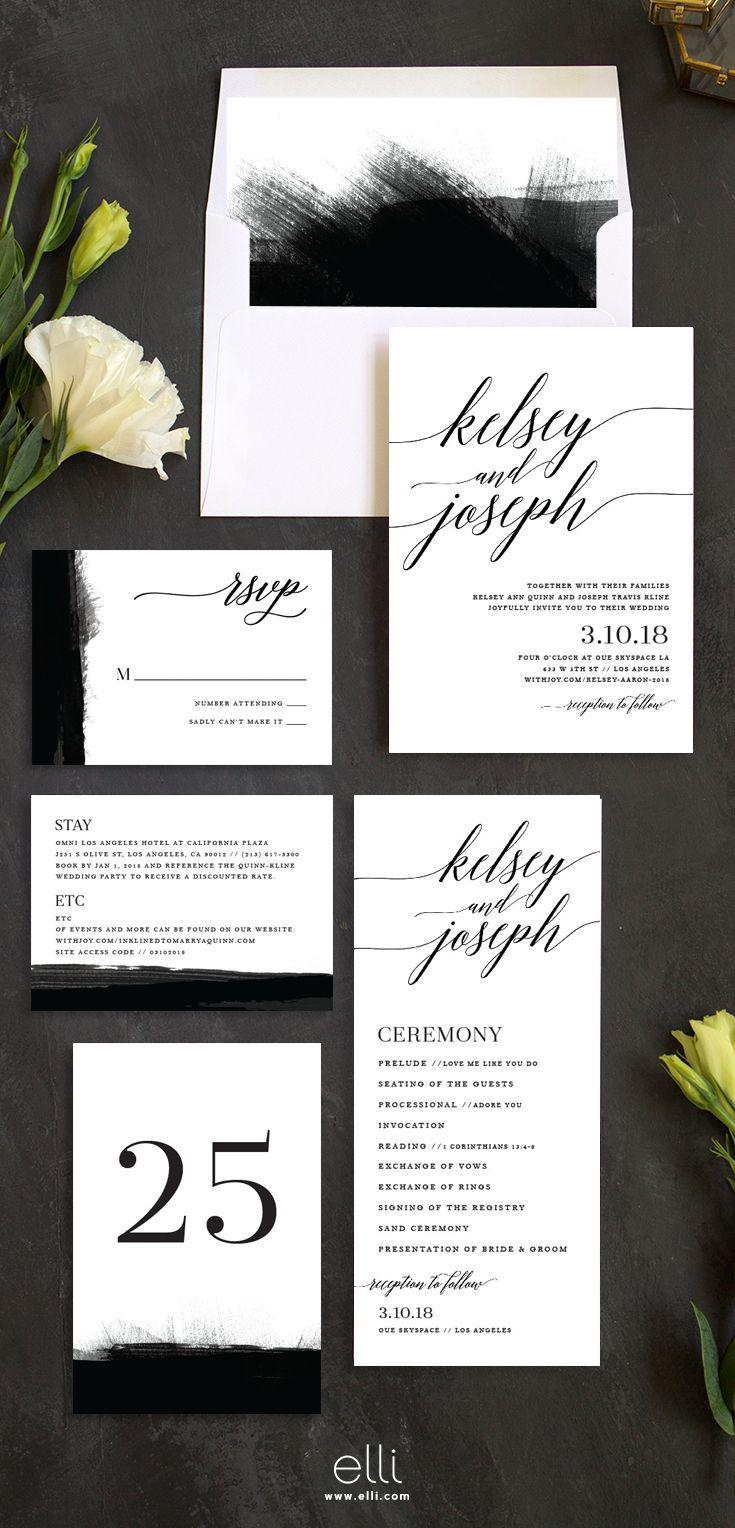 Simple and modern wedding invitation suite | Wedding inspiration ...