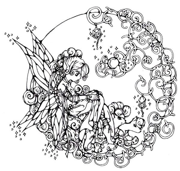 Fantasy Coloring Pages For Adults Az Coloring Pages Kreatif Dan Stensil