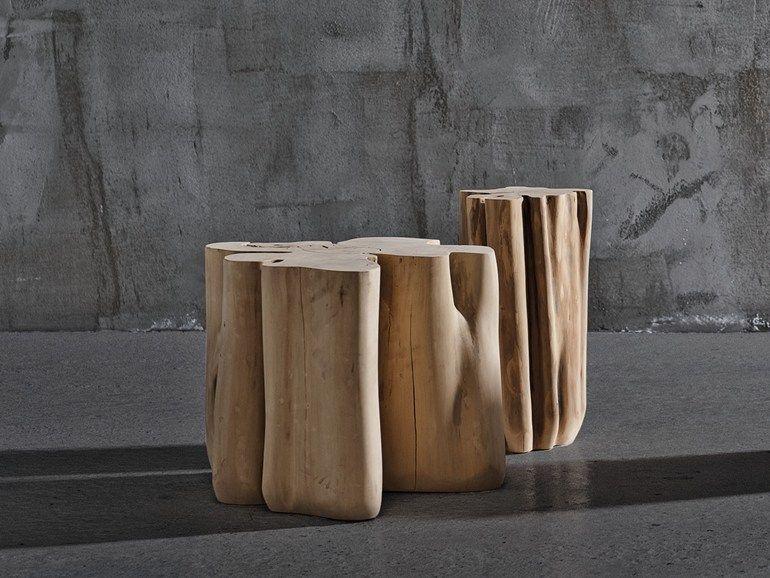 Tavolo Gervasoni ~ Wooden pouf coffee table brick s brick collection by gervasoni