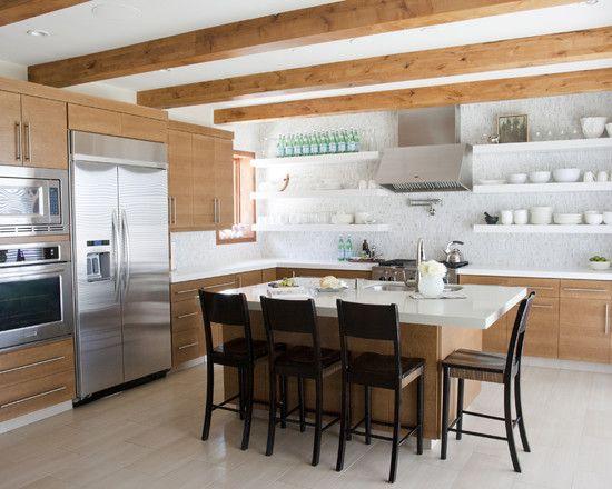Shelves Asian Inspired Remodel Pinterest Modern kitchen
