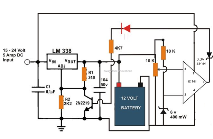 24 Volt Dc Battery Circuit Wiring Diagram Data Schema