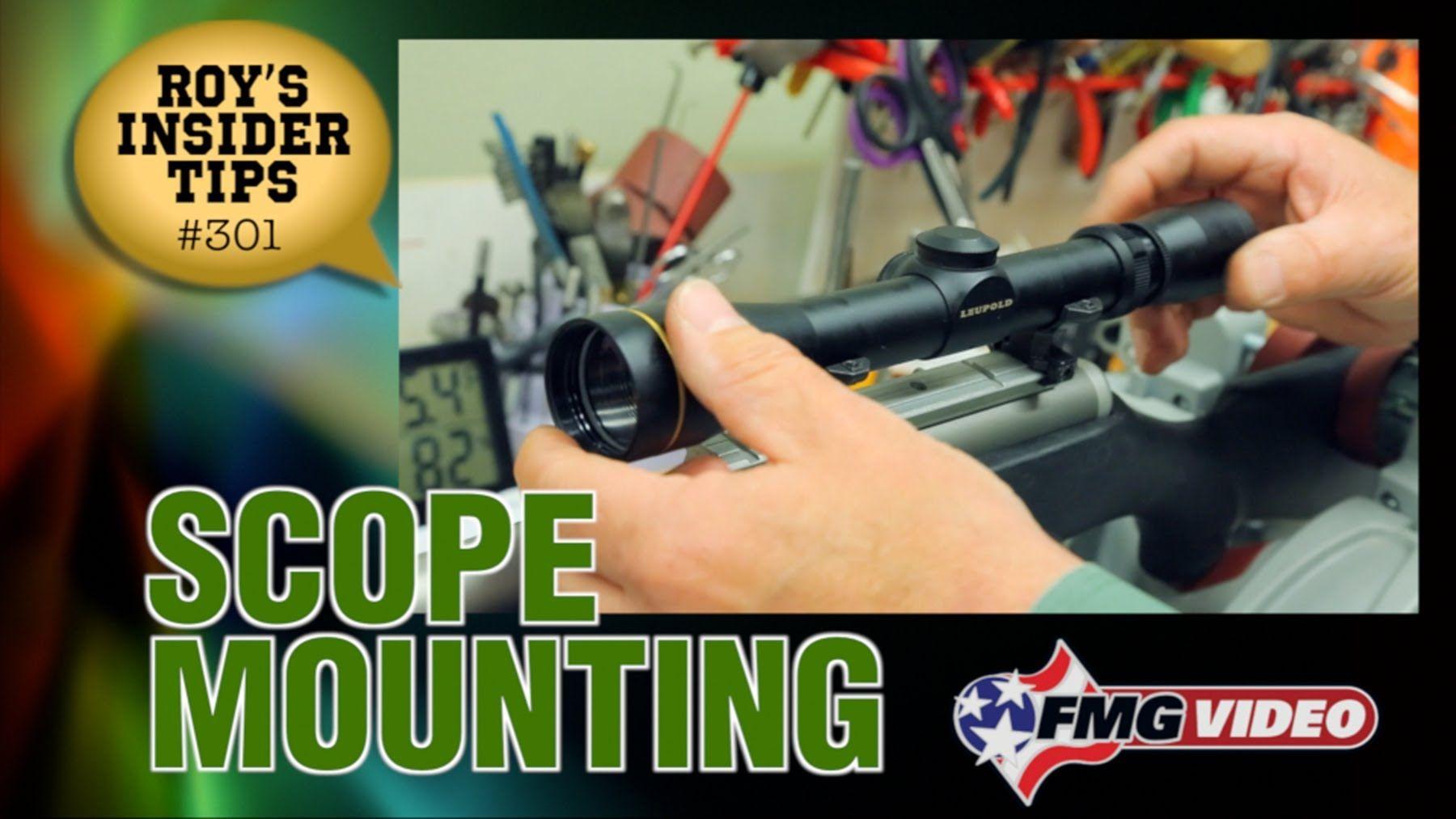 Scope Mounting American Handgunner's Roy Huntington