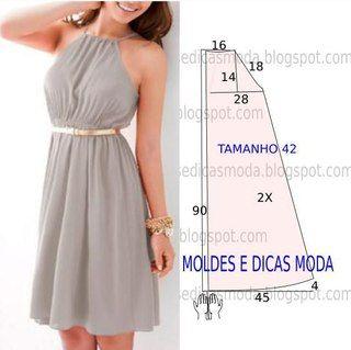 Платье выкройка резинка на талии
