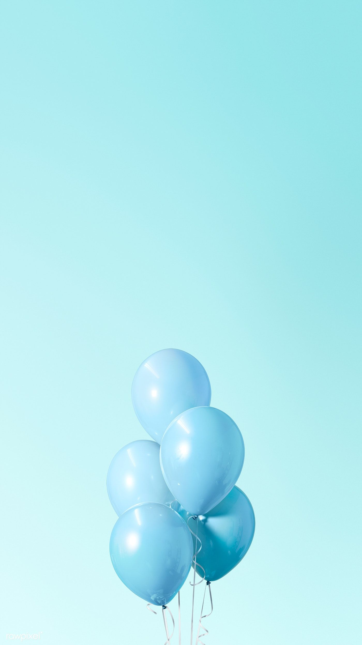 Download Premium Illustration Of Pastel Blue Balloons Mobile Phone Blue Wallpaper Iphone Baby Blue Wallpaper Blue Balloons