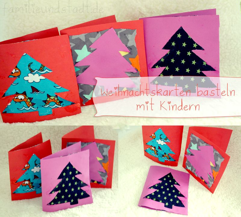 weihnachtskarten basteln mit kindern card ideas xmas and fabrics. Black Bedroom Furniture Sets. Home Design Ideas