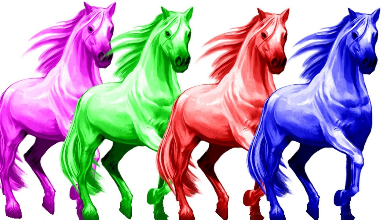 3d Horse Colours Songs Horse Rhymes For Children Colour Song For Kids Horse Video For Children Https Yo Color Song For Kids Rhymes For Kids Color Songs