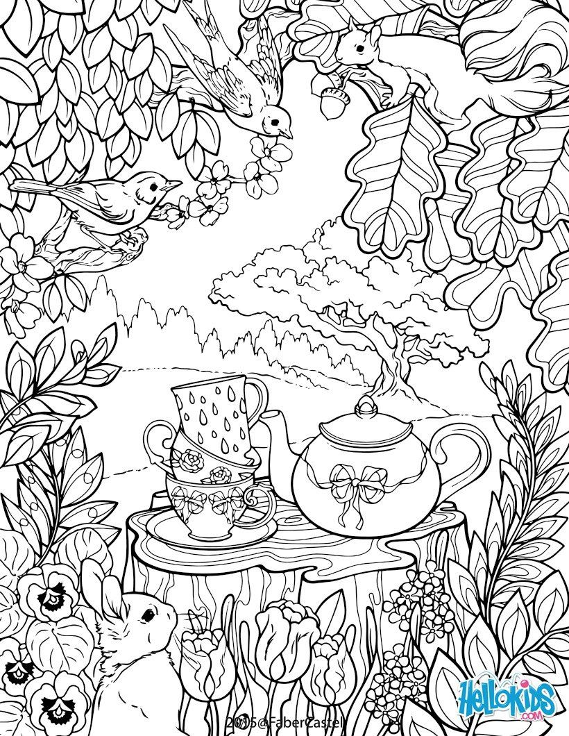 Secret Garden Colouring Page