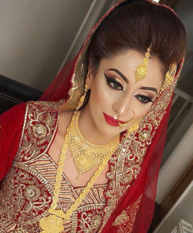 ριηтєяєѕт: @MissM_H Bridal Makeup Looks, Bride Makeup, Bridal Eye Makeup, Indian